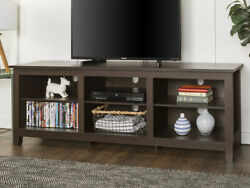 Walker Edison Wood Tv Media Storage Stand For Tv's Up To 78 - Espresso