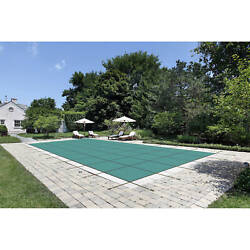 Water Warden Solid Safety Pool Cover For In Ground Pools With Center Drain Pan