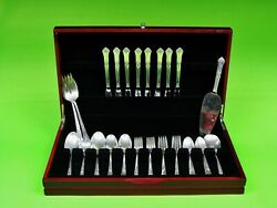46 Pieces Stately By State House Sterling Silver Flatware Set For 8 Service.