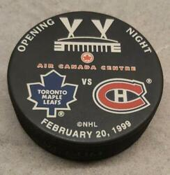 Toronto Maple Leafs Opening Night Acc Feb 20 1999 Official Nhl Puck