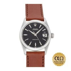 Rolex Oyster Date Ref.6466 Stainless Steel Black 1964 Menand039s Watch[b1215]