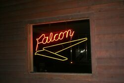 Original Ford Falcon 1960and039s Dealership Neon Window Sign. Mint Virgin Neon