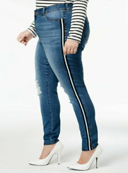 Women Plus Size Celebrity Pink Mid Rise Skinny Jeans 14 16 18 20 22 24 10696