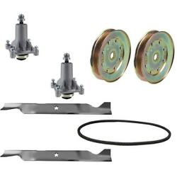 46 Rebuild Kit For Ariens Spindle 21546238 Mulching Blade 21546611 Belt Pulley