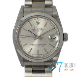 Rolex 78240 Datejust K Number Boys Ss At Silver [e1217]