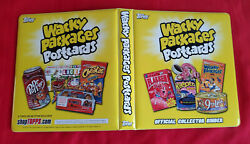 2012 Topps Wacky Packages Postcard Official Yellow Binder Brand New @@ Rare @@