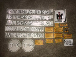 International T-6 Gasoline Crawler Decal Case Decals On Tractor Farmall T6
