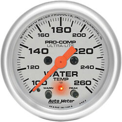 Autometer Amt-4354 Gauge Ultra-lite Water Temperature 2 1/16 In. 260 Degrees