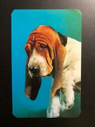 Old Vintage quot; BASSET HOUNDquot; Postcard Made in USA