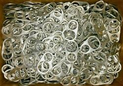 Huge Lot 1.5+ Pounds Of Aluminum Can Tabs Pull Tabs For Crafts All Silvertone