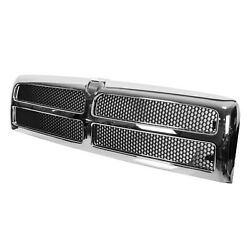 Chrome Grille W/ Insert Assembly Fits 94-02 Dodge Ram Truck 1500 2500 3500