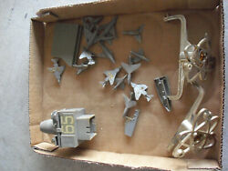 Vintage Lot Of Small Plastic Navy Airplanes Toy Parts And More