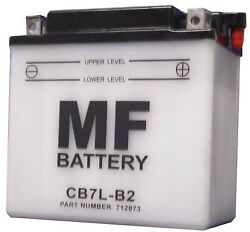 Battery Conventional For 1996 Yamaha Sr 125 Se Front Disc And Rear Drum 3mw3