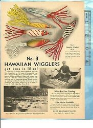 1948 Fred Arbogast No. 3 Hawaiian Wigglers Bass Lure +a Lassell Ripley Paintings