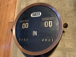 19206 Trolley Street Car Cash Fare Transfer Counter In Out Token Meter Cast Iron