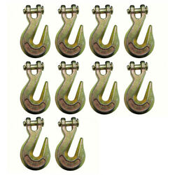 10 G70 3/8 Clevis Grab Hooks For Wrecker Tow Chain Flatbed Trailer Tie Down