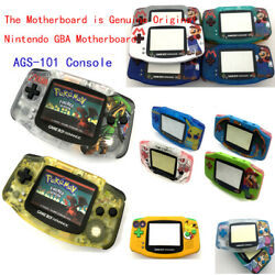 Ags-101 Backlight Lcd Mod And Switch Game Boy Advance Gba Game Console W/ Pattern
