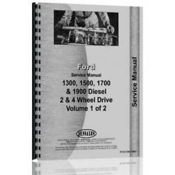 Tractor Service Manual Fo-s-1300,1500+ Fits Ford 1300 1500 1700 1900