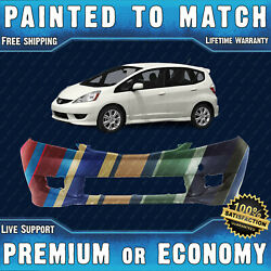 New Painted To Match - Front Bumper Replacement For 2009-2011 Honda Fit Sport