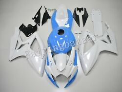 Fit For 2006 07 Gsxr600 750 Pearl White Blue Abs Injection Fairing Kit Full Tank