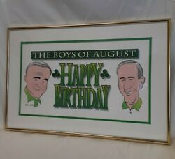 Rare Unique Budweiser Mike Roarty Boys Of August Irish Caricature Framed Print