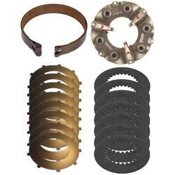 Steering Clutch Kit W/ Brake Band Pressure Plate And Discs For Ih Dozer 500 Td5