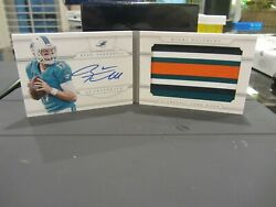 National Treasures Autograph Jersey Booklet Dolphins Ryan Tannehill 25/25 2013