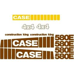 New Fits Case 580e Backhoe Loader Construction King 4 X 4 Whole Decal Set