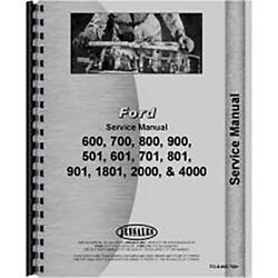Service Manual For Fo-s-600 700 Fits Ford 631 Tractor