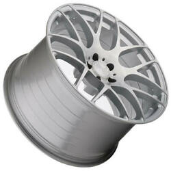 4ea 19 Staggered Avant Garde Wheels M610 Brushed Liquid Silver Rims S5