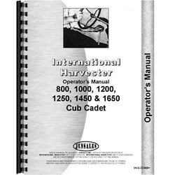 New Tractor Operator Manual For International Harvester Fits Cub Cadet 1450 Trac