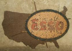 Unique 1940's Esso Standard Oil Of New Jersey Display Sign