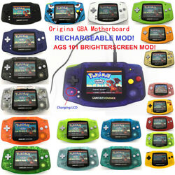 Rechargeable Ags-101 Backlit Lcd Mod Nintendo Game Boy Advance Gba Game Console