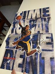 Vintage Latrell Sprewell Autograph Signed Converse Poster Golden State Warriors