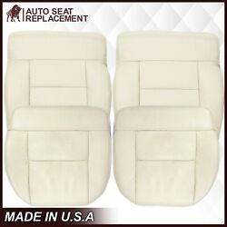 2004 Ford F150 Lariat Leather Replacement Seat Covers Light Parchment Tan