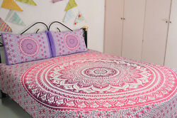 Queen Bedspread Hippie Indian Mandala Bedding Bohemian Bed cover Throw Blanket