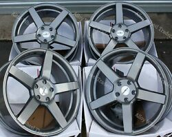 20 Grey Cc-q Alloy Wheels And Tyres Fit Vw T5 T6 T28 T30 T32 Highline R Line Van