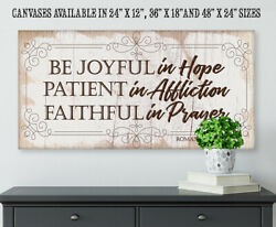 Be Joyful In Hope-large Canvas Wall Art Not Wooden - Stretched On A Heavy Wood