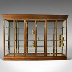 Very Large Antique Shop Display Cabinet Victorian Mirror-Back Cabinet c.1900