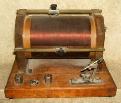 Circa 1920and039s Large Crystal Radio Receiver With 3 Stage Crystal