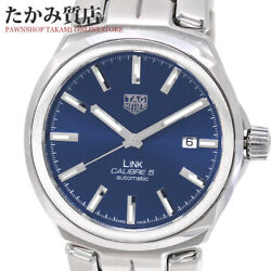 Tag Heuer Link Caliber 5 Wbc2112 Blue Dial Automatic Ss Menand039s Watch[b0106]