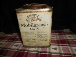 Vintage Mobil Grease Gargoyle No 6 Socon Vacuum Co 5 Pounds Oil Can Nice