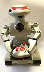 Rad Radio Controlled Robot Works Complete 2 Batteries 1 Charger Toymax 1998