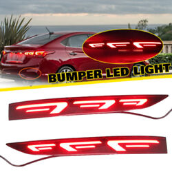 2x Car Rear Bumper Lamps Reflector Tail Rear Brake Fog Lights For Hyundai Accent