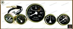 Willys Jeep Complete Speedometer Assembly And Gauge Kit -12 Voltfits See Desp
