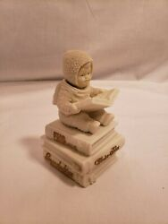 Dept. 56 Snowbabies Wind Up Musical Snowbaby Stories,baby On A Book,head Moves