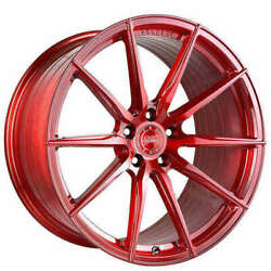 4ea 19 Vertini Wheels Rfs1.1 Brushed Candy Red Rims S6