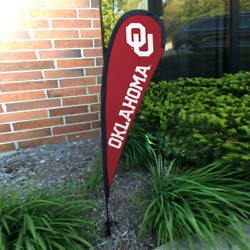 Oklahoma Sooners Small Feather Teardrop Flag And Banner Set