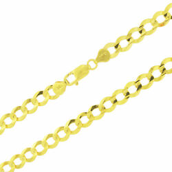 Authentic 10k Yellow Gold Solid 8mm Mens Cuban Curb Chain Link Necklace 30in 30