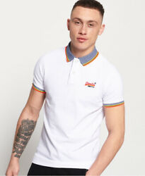 Superdry Mens Sunrise Cali Organic Cotton Pique Polo Shirt
